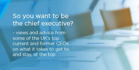 So you want to be the chief executive?
